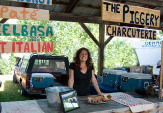 photo of Heather Sandford at the Ithaca Farmer's Market